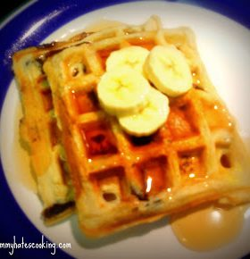 Ban-Apple Chocolate Chip Waffles