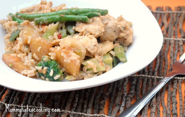 Pineapple Chicken and Rice Stir Fry
