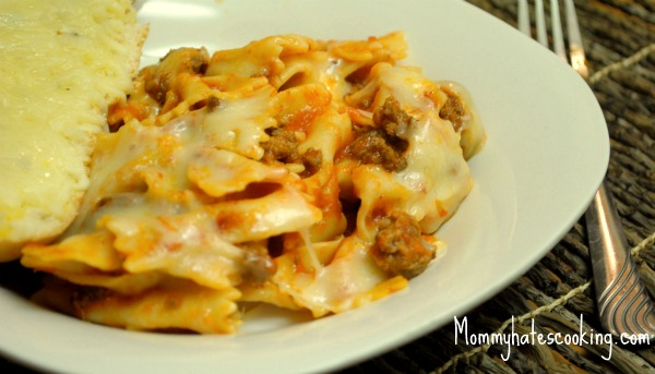 Bow Tie Pasta Bake - Mommy Hates Cooking