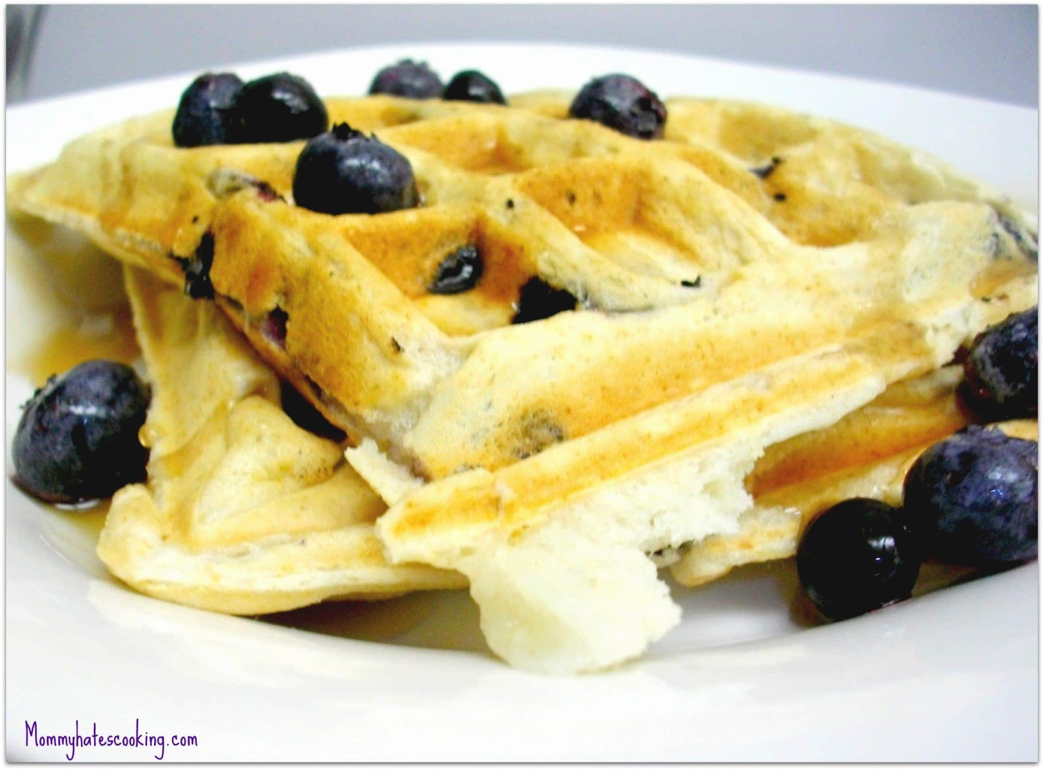 Dairy Free Blueberry Waffles
