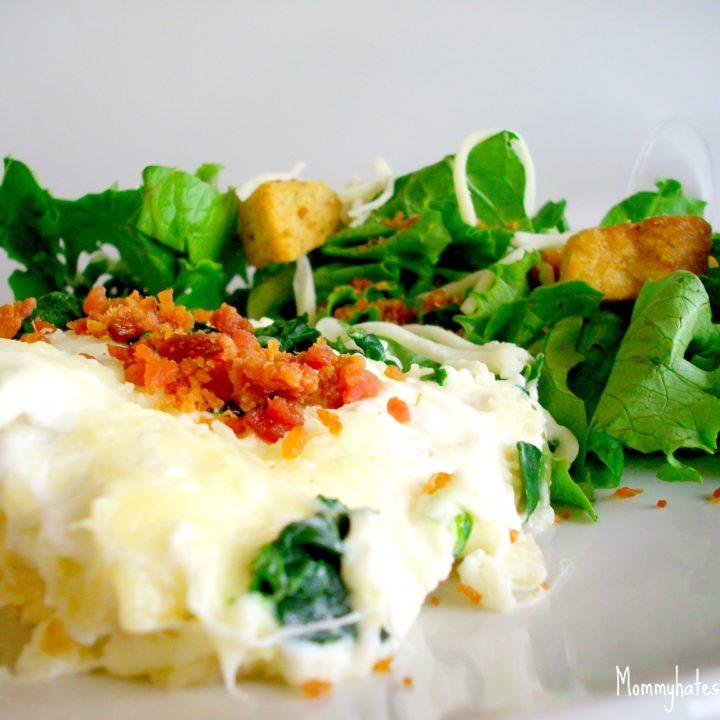 Garlic Chicken Lasagna