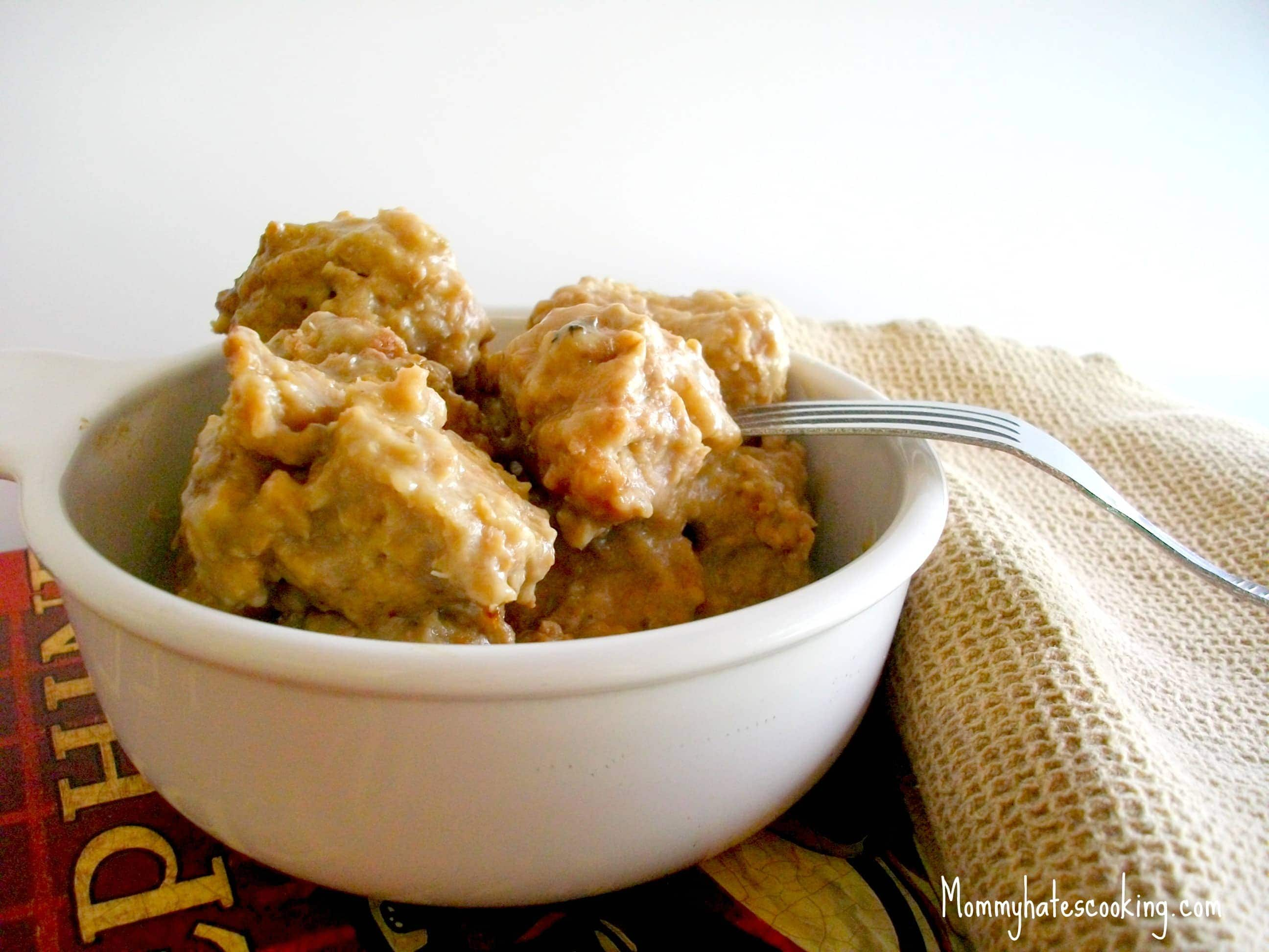 Slow Cooker Creamy Meatballs