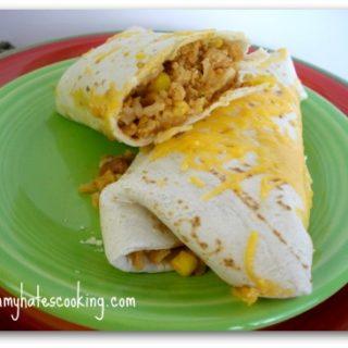 Ground Chicken and Bean Burritos