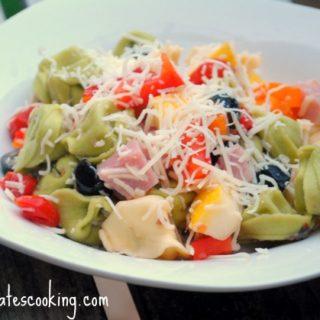 Ham and Cheese Tortellini Pasta Salad