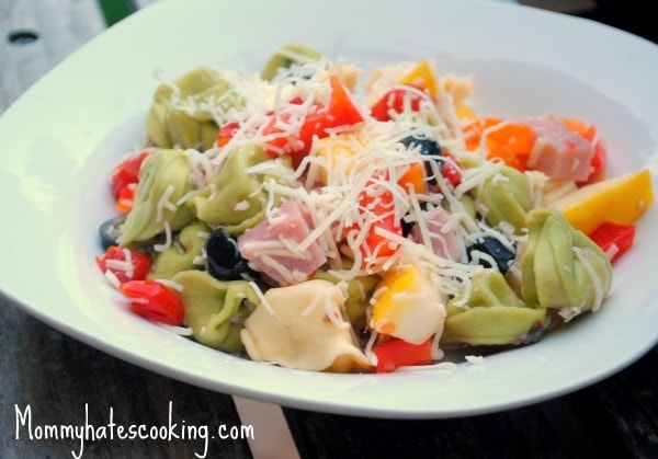 Ham and Cheese Tortellini Pasta Salad