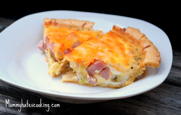 ... breakfast. Today, I'm sharing my Ham and Cheese Quiche recipe on