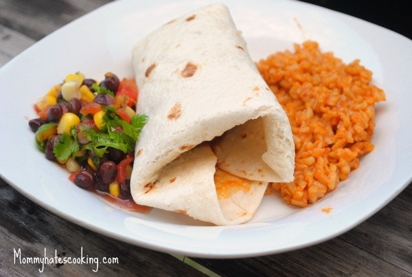 BBQ Shredded Chicken Burritos