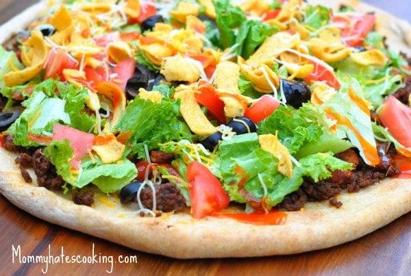 Taco Salad Pizza Recipe