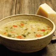 2Tuscan White Bean Soup with Broccoli Rabe