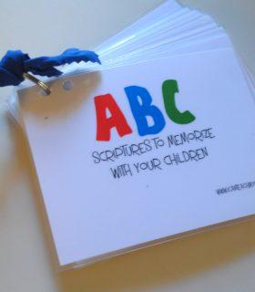 Pinterest Project: ABC Scripture Cards