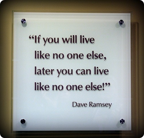 Live Like No One Else Dave Ramsey