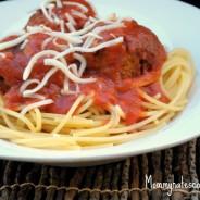 slow cooker chicken meatball spaghetti