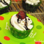 clear american chocolate raspberry cupcakes