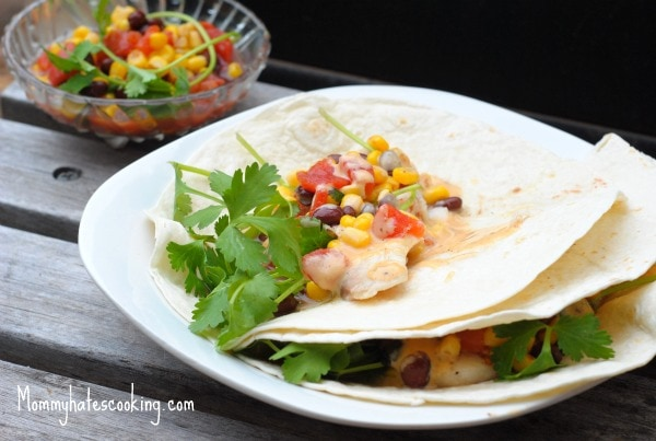 Healthy remix fish tacos with corn salsa mommy hates for Side dishes for fish tacos