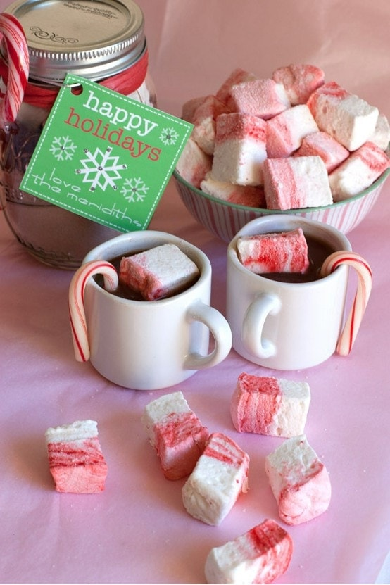 Gift idea peppermint candy cane marshmallows mommy for Homemade christmas candy gift ideas