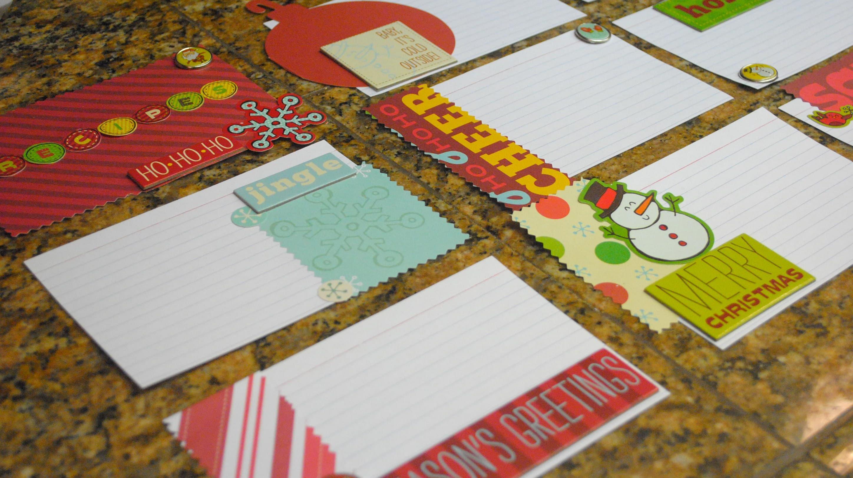 holiday gift idea elmer s gluenglitter homemade recipe cards