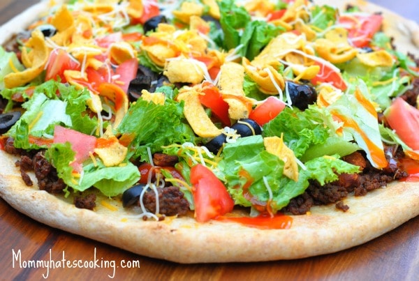 Healthy Remix: Taco Pizza - Mommy Hates Cooking