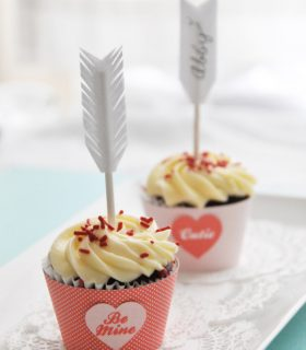 cupids arrow cupcakes