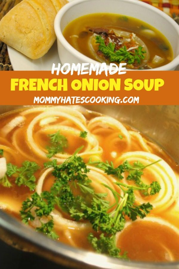 Homemade French Onion Soup #GlutenFree