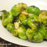 garlic seared brussel sprouts