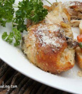 parmesan oven friend chicken