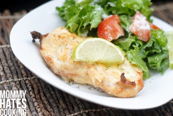 cheesy lime dill chicken
