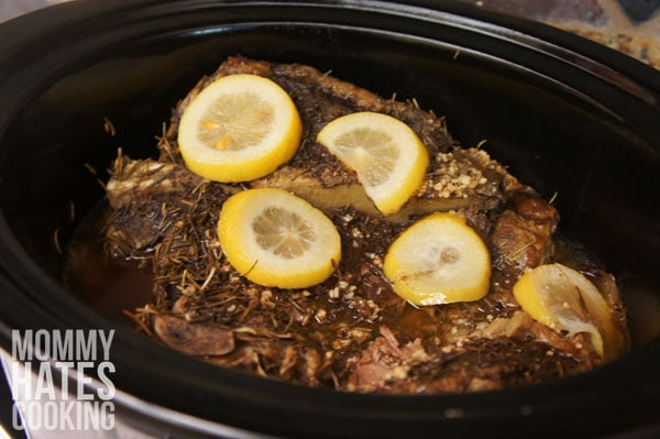 Slow Cooker Rosemary Roast and Potatoes - Mommy Hates Cooking
