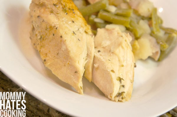Slow Cooker Mediterranean Herb & White Wine Chicken