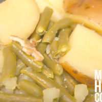 Slow Cooker Green Beans and Potatoes