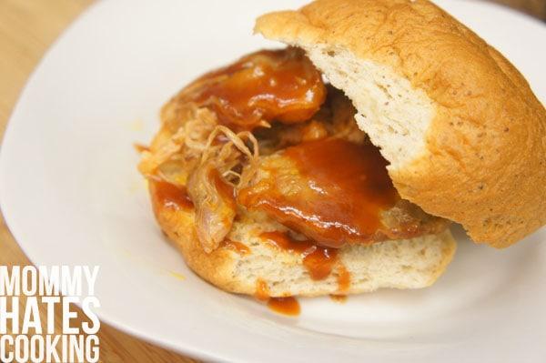 slow cooker rib sandwich