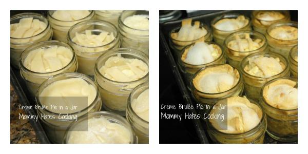 creme brulee pie in a jar