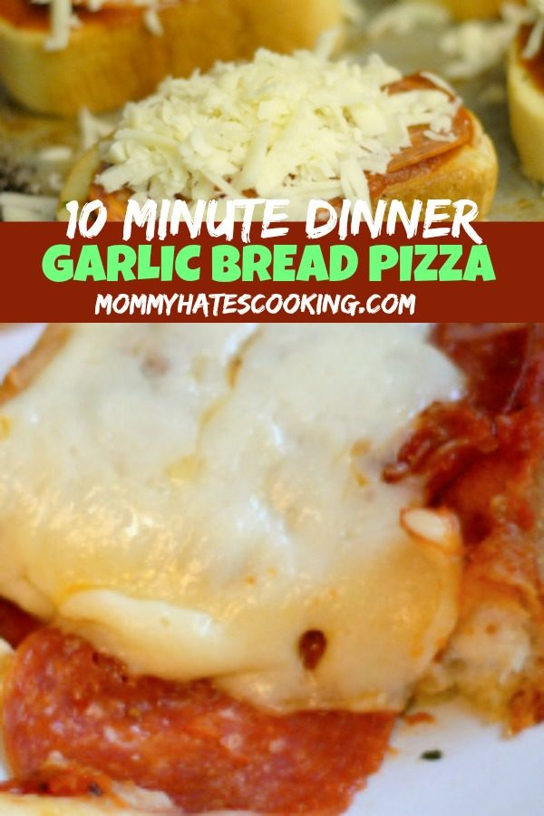 Garlic Bread Pizzas