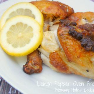 lemon pepper oven fried chicken