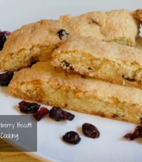 white chocolate cranberry biscotti