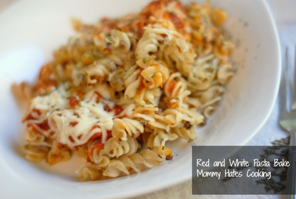 Red and White Pasta Bake