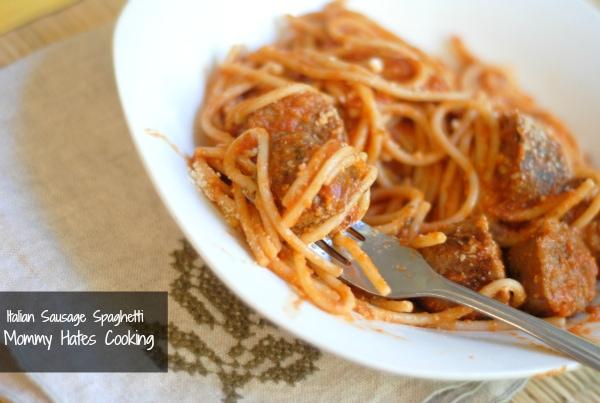 italian sausage spaghetti