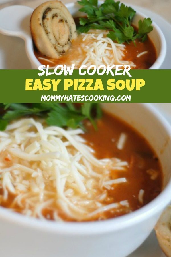 Slow Cooker Easy Pizza Soup