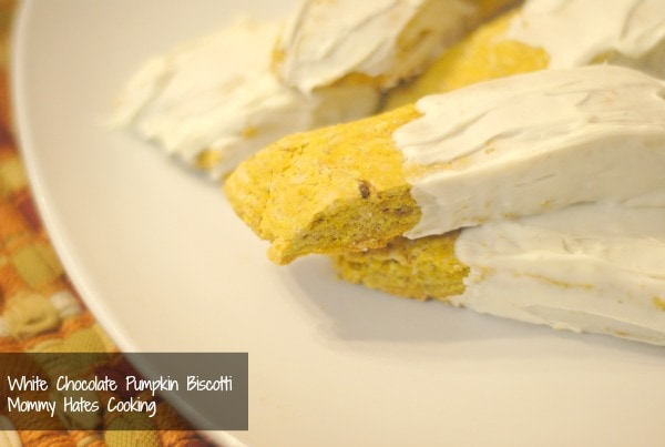 white chocolate pumpkin biscotti