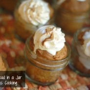 pumpkin bread in a jar