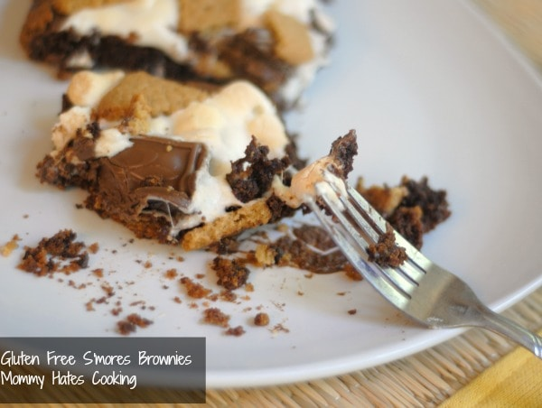 gluten free s'mores brownies