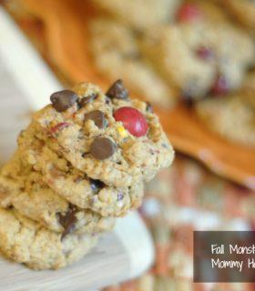 fall monster cookies
