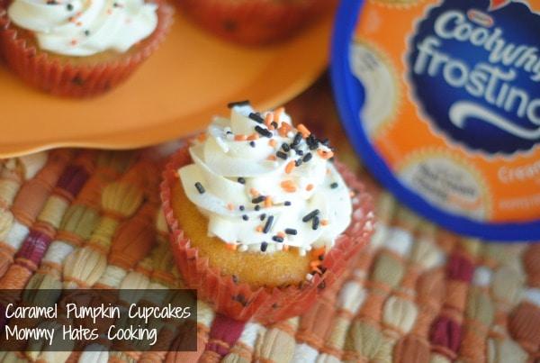 caramel pumpkin cupcakes