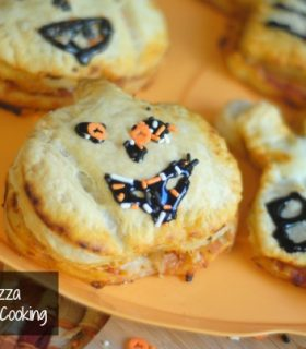 Puff Pastry Halloween Pizza Pockets with Pepperidge Farm®
