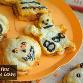 Puff Pastry Halloween Pizza