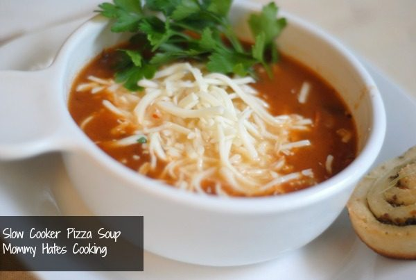 slow cooker pizza soup