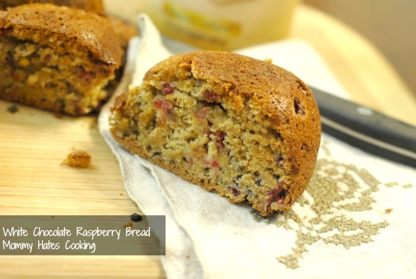 White Chocolate Raspberry Bread