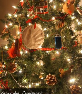 Pottery Barn Kids Holiday Hand Print Keepsake Ornament