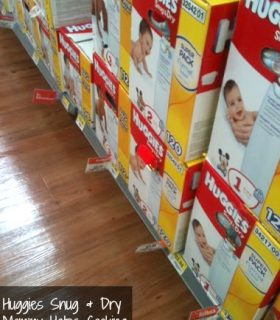 Baby Preparation:  Staying Dry with Huggies Snug & Dry