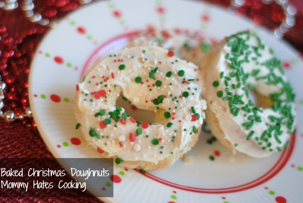 baked christmas doughnuts