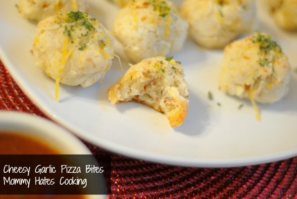 cheesy garlic pizza bites